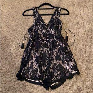 L'ATISTE Romper Black Lace Detail